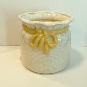 Vintage Indoor Porcelain Planter/ Vase